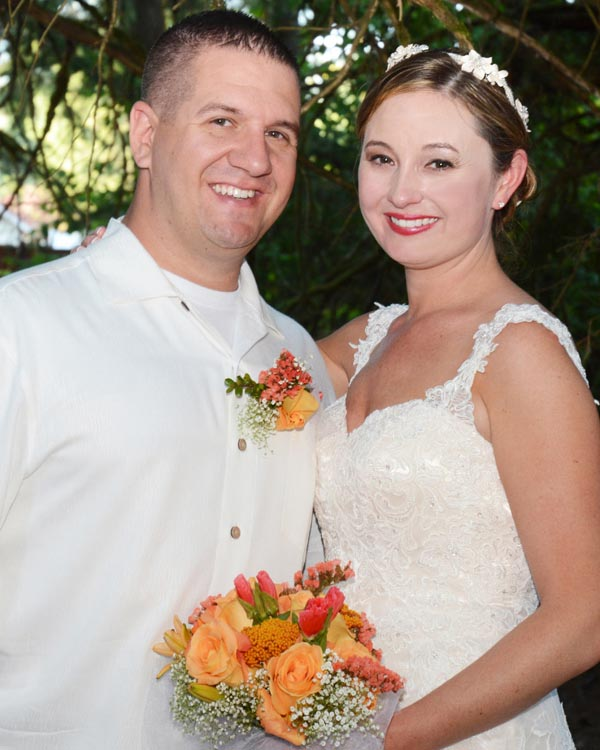 Aaron and Jessica Lundy, married Aug. 20 in Olympia, WA