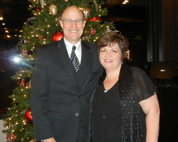 Larry and Robin at the Providence Christmas Forest Gala