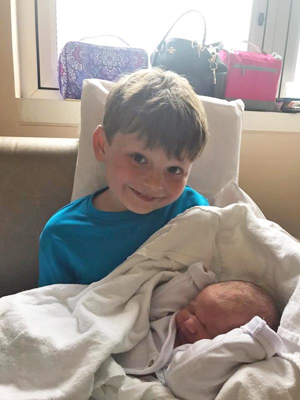 Hudson gets a new brother. He dubs Hunter and Hudson the 'H Boys'